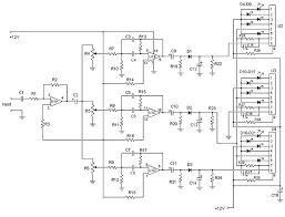 17 best ideas about circuit diagram electrical 3 channel spectrum analyzer circuit diagrams schematics electronic projects