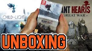 Child Of Light Ultimate Edition Switch Physical Child Of Light Ultimate Edition Valiant Hearts The Great Wars Switch Unboxing