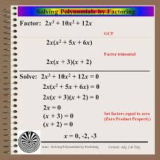 aim how do we solve polynomial equations using factoring ppt