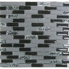 gbi tile stone inc gemstone black brick mosaic glass tile sample common