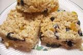 blueberry peach rice  krispies treats