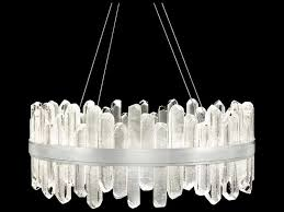 fine art lamps lior silver with rock crystal glass 40 light 31 wide