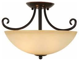 oil rubbed bronze semi flush mount ceiling light fixture traditional flush mount