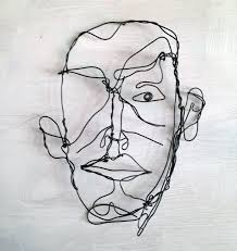 Wire Art Man Wire Art Sketch Frank Marino Baker Drip Wire Art