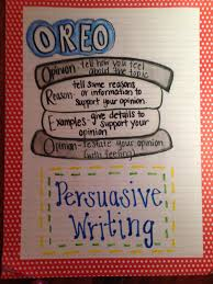 Persuasive Writing Anchor Chart Oreo Writing Persuasive
