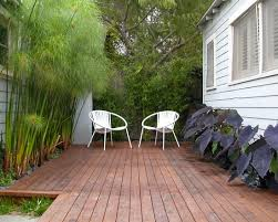 Small Picture small garden design idea with modern deck bamboo trees Container