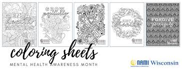 1000 plus free coloring pages for kids including disney movie coloring pictures and kids favorite cartoon characters. Coloring Pages Mental Health Awareness Month Nami Wisconsin Nami Wisconsin