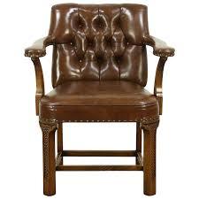 leather antique wood office chair leather antique. Exellent Office Romweber Viking Oak 1984 Vintage Leather Library Or Desk Chair 28862 With Antique Wood Office