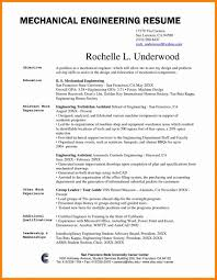 Astounding Mechanical Engineering Resume Template Engineer Format