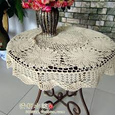 small table cover french style fashion handmade crochet small round table cloth rustic vintage cutout knitted