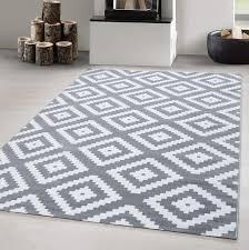 Designer Teppich Modern Wohnzimmer Raute Design Karo Muster