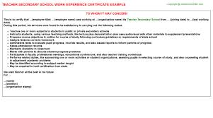 School Work Experience Letter Template Nurse Work Experience