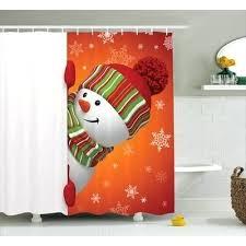 santa shower curtain funny snowman shower curtain santa belt shower curtain