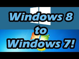 How To Downgrade From Windows 8 8 1 To Windows 7 Youtube