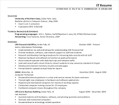 It Resumes Templates Impressive It Resume Templates For Resumes Best Utmostus