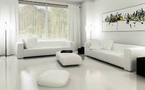 White Living Room Decorating Home