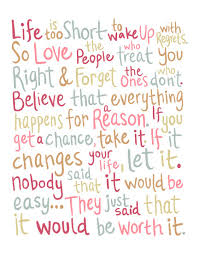 Lifes Too Short Quotes Amazing Life Is Too Short To Wake Up With Regrets Life Quote