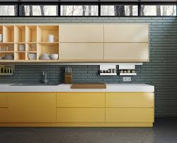 Yellow Kitchen Contrast And Yellow Kitchen Cabinet Latest Kitchen Ideas