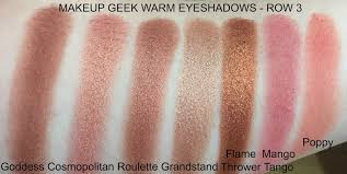 dess is a pale metallic copper shade which although not as pigmented as some of the other mug eyeshadows performs well enough when built up