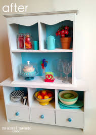 A Doll Sized China Hutch A Mini Furniture Makeover