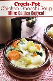 crock pot en gnocchi soup olive garden copycat