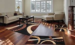 home dynamix ariana collection 3 piece area rug set ultra soft super durable hd5194 502 ebony red