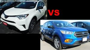 2017 Toyota RAV4 vs 2017 Ford Escape - YouTube