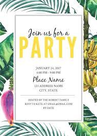 Event Invitations Templates Free Jungle Party Birthday Invitation Template Free Invitation