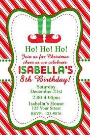 Christmas Birthday Party Invitations Elf Feet Christmas Birthday Party Invitation Digital File 40th