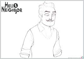 Stunning Decoration Hello Neighbor Coloring Pages Free Printable