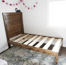 this diy planked wood bed is very easy to make and cost me about 45 in lumber to make