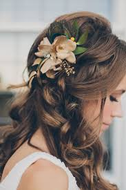 Flower Hair Style 17 simple but beautiful wedding hairstyles 2017 4355 by wearticles.com