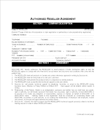 Make your free sales agency agreement. Reseller Contract Agreement Sample Templates At Allbusinesstemplates Com