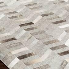 modern cowhide area rug 5009 dark brown cream light gray