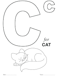 letter a coloring pages for my