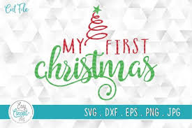Merry christmas free vector we have about (7,051 files) free vector in ai, eps, cdr, svg vector illustration graphic art design format. My First Christmas Svg My 1st Christmas Graphic By Easyconceptsvg Creative Fabrica