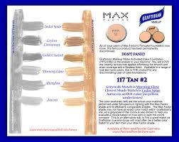 max factor pancake foundation 117 tan 2 color parison to graftobian water activated cake foundation