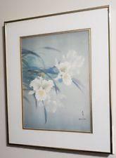 david lee framed print white orchid wall decor hawaii flower on white orchid framed wall art with david lee art prints ebay