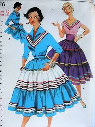 Simplicity Blouse Patterns Fascinating 48s SOUTHWESTERN Skirt With Cummerbund And Blouse Simplicity 48