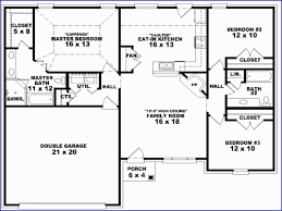 one story ranch style house dual master suite plans and 3 bedroom ranch floor plans 3 bedroom e story house