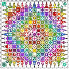 Rainbow Jane Block of the Month BOM Rainbow Dear Jane® Block of ... & Rainbow Jane Block of the Month BOM Adamdwight.com
