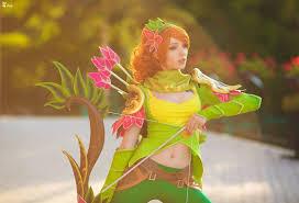 see the beautiful dota 2 cosplay of windranger 2p com dota 2