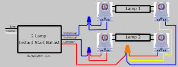 t8 2 lamp wiring diagram electrical wiring diagram how to replace 2 lamp series ballast parallel 2 electrical 101after 2 lamp rapid start