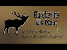 Wild Game Meat Cutting Chart Butchering Elk Meat