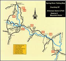 map of spring river fishing the arkansas ozarks mountain home White River Arkansas Map White River Arkansas Map #37 white river arkansas map app