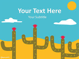 Ppt Templates Download Free Free Desert Cactus Powerpoint Template Download Free