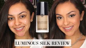Armani Designer Foundation Review Giorgio Armani Beauty Luminous Silk Foundation Review