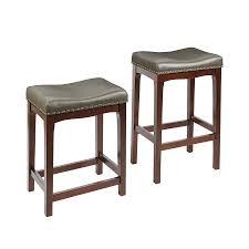 set of 2 farmhouse chocolate adjule stools