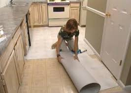 Vinyl Floor In Kitchen How To Install Self Stick Floor Tiles How Tos Diy