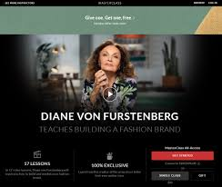 Fashion Design Lessons Online Masterclass Diane Von Furstenbergs Building A Fashion Brand